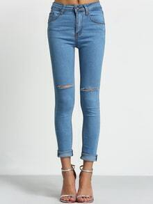 Ripped Denim Skinny Pant