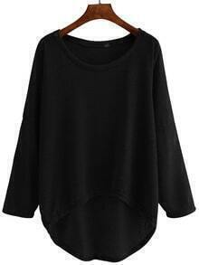 Dropped Shoulder Seam High Low Knitwear