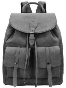 Grey Magnetic Flap Over Backpacks