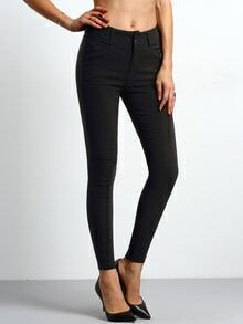Women Slim Black Pant