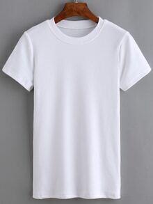 Crew Neck White T-shirt