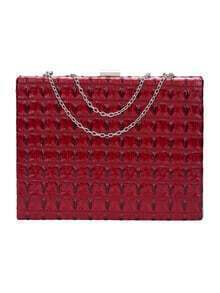 Red Chain Banquet Bag