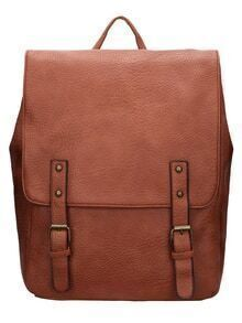 Brown Magnetic Flap Over Oversized Backpack
