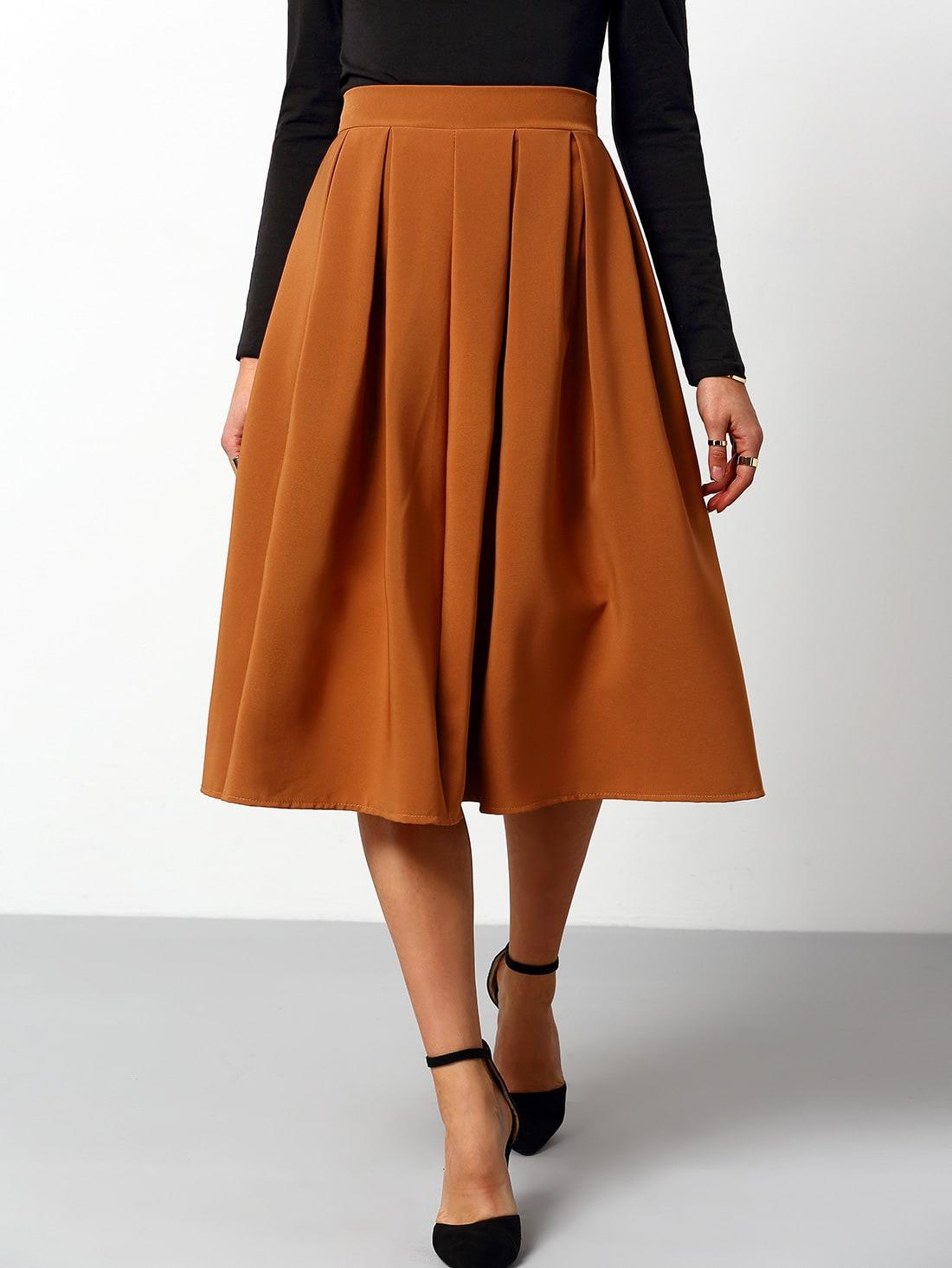 high waist a line skirt