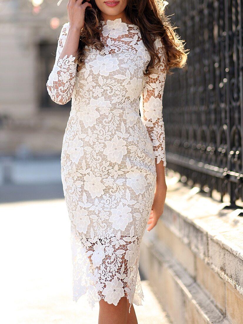 Кружевные платья костюмы