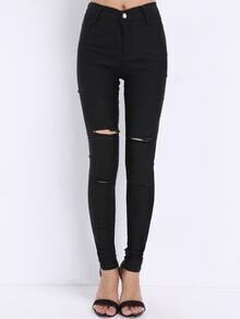 Pantalón skinny cut out -negro