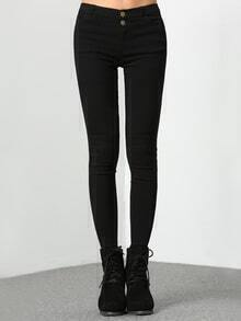 Black Skinny Buttons Pant