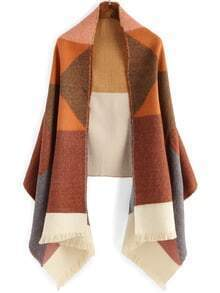 Colour-block Fringe Scarve