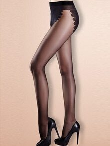 Black Sheer Stockings