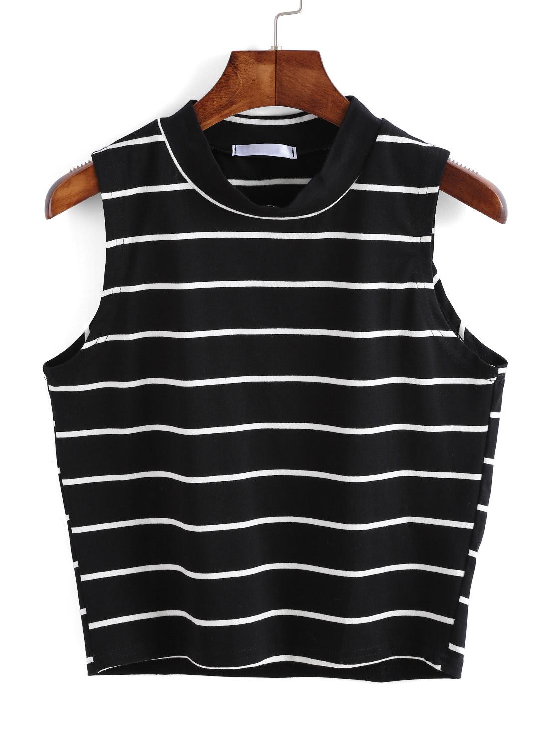 Striped Black Tank Top