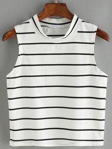 Striped White Tank Top