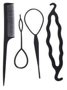 Buy Black Comb Pull Hair Pins U-Shaped Clip Hairpin Hook Set