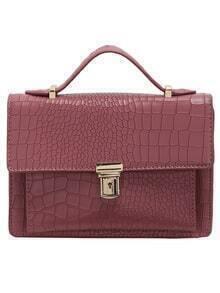 Purple Crocodile PU Chain Bag