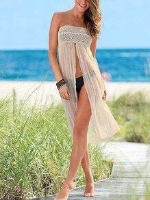 Strapless Convertible Split Beach Dress