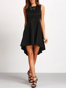 Robe sans manche asymétrique -noir