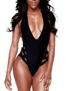 Halter Hollow Out One Piece Swimwear