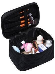 Black Diamondback Zipper Cosmetic Bag