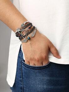 Gewebter Armrbäder mit Metall besetzt