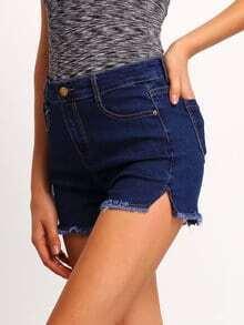 Blue Slim Pockets Denim Pant