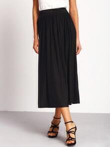 Plain Pleated Elegant Long Skirt