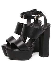 Thick Straps Chunky Platform Sandals