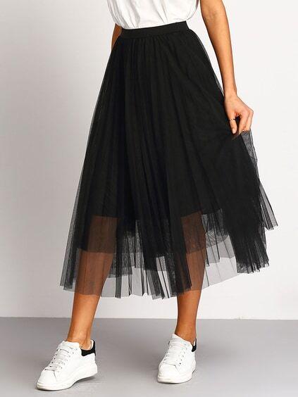 jupe noire taille elastique - Rue du Commerce