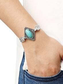 bracelet insertion strass -vert