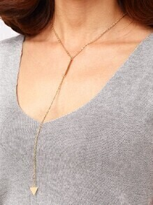 Triangle Plate Drop Necklace
