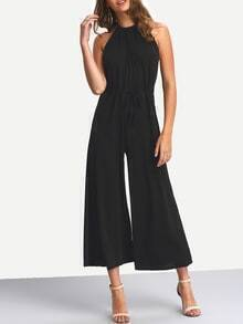 Halter Backless Wide Leg Jumpsuits