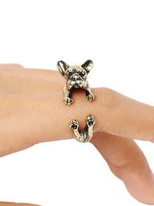 Gold Bulldog Ring