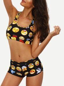 Bikini cara sonriente deporte