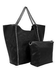 Black Chain Two Pieces Shoulder Bag