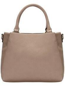 Beige Vintage PU Shoulder Bag