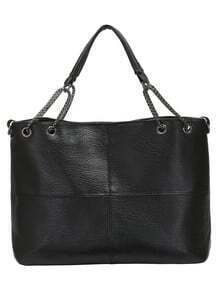 Black Chain PU Shoulder Bag
