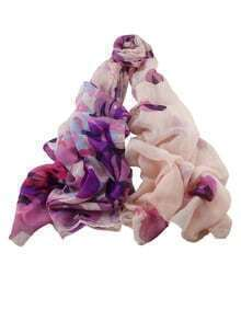 Purple Printed Women Scarf