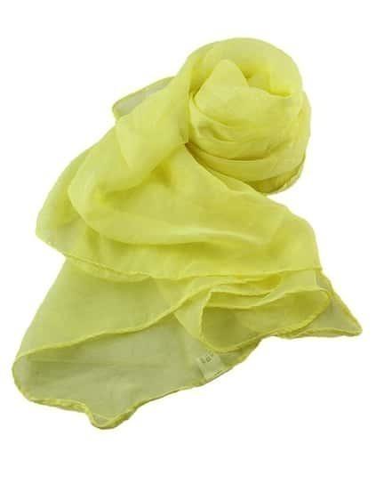Yellow Voile Soft Soild Scarf