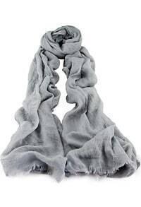 Grey Vintage Fringe Scarves