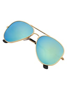 Green Lenses Top Bar Sunglasses