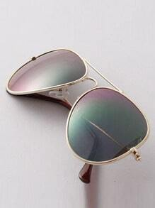 Purple Lenses Top Bar Sunglasses