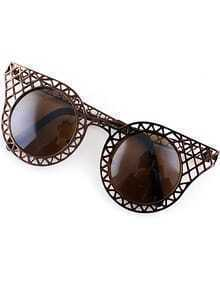 Brown Hollow Cool Sunglasses