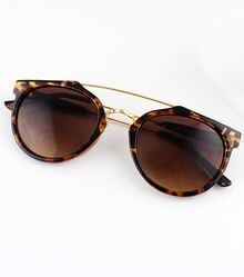 Leopard Rim Brown Sunglasses