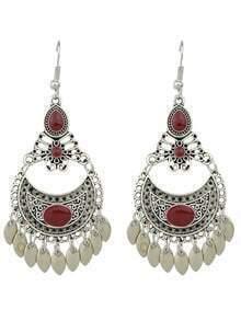 Red Drop Earrings Colorful