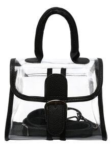 Oversized Buckle Transparent Handbag