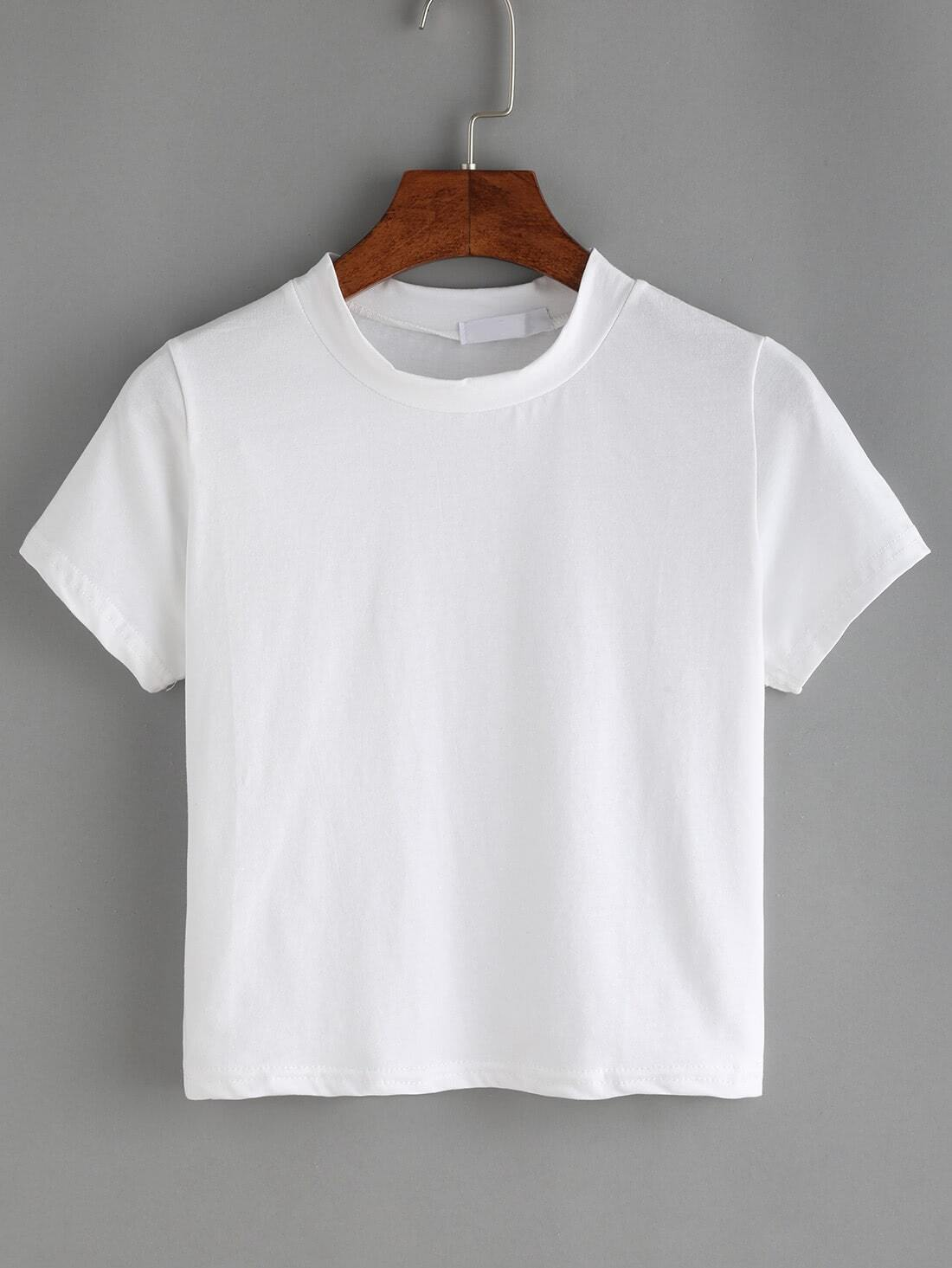 White crew neck t shirt for Crew neck white t shirt