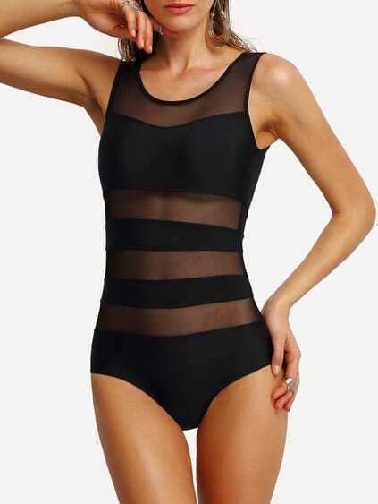 maillot de bains insertion mesh
