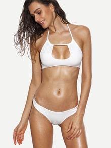 Keyhole Halter Neck Bikini Set
