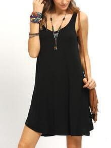 Black Swing Tank Dress
