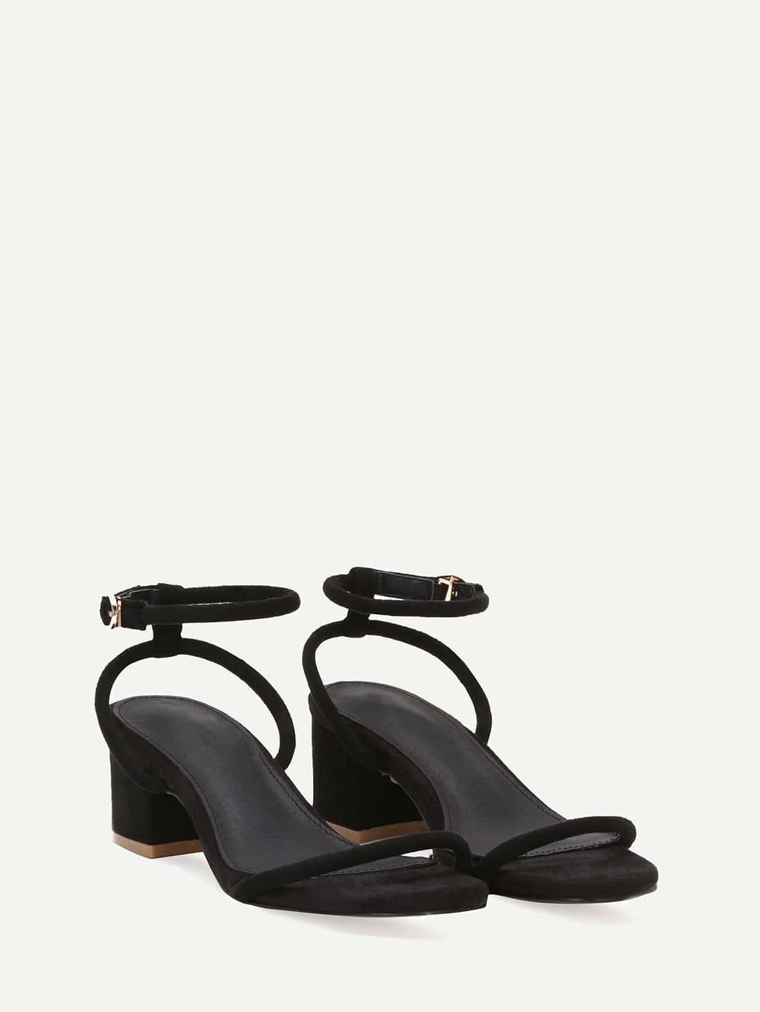 Sandales talon en faux daim noir french romwe for Acheter maison suede
