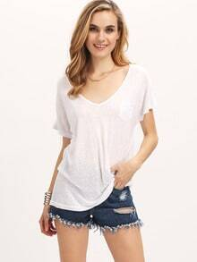V Neck Pocket T-shirt
