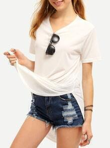 White High Low T-shirt